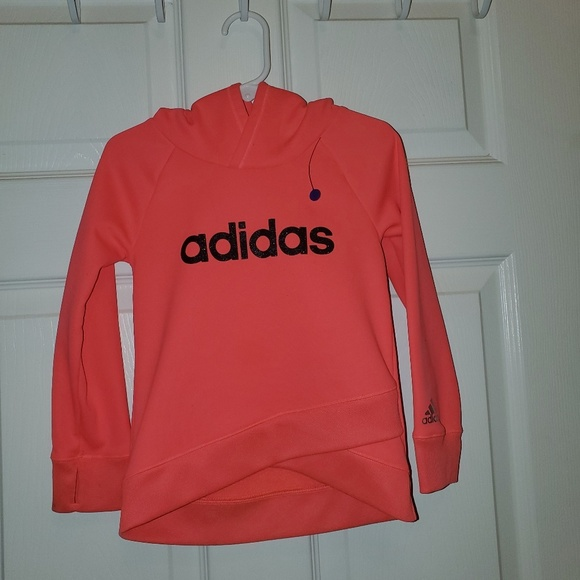 adidas Other - NEON PINK ADIDAS HOODIE